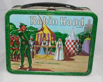 1956 Robin Hood Lunch Box.  reserved for joesummerer1