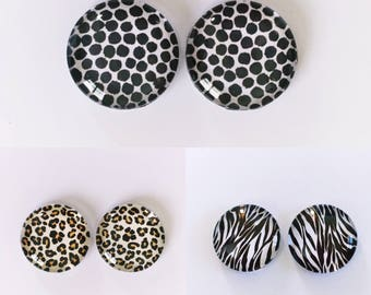 The 'Animalia' Glass Earring Studs