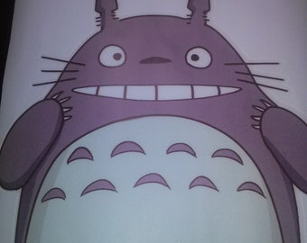 Totoro Anime Color Colorful 3D Vinyl Wall Decal Sticker for Bedroom Home Nursery Office Room Decor Decorate Mural 5.2 Inches
