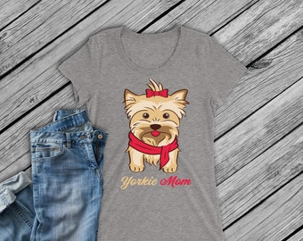 Digital file -SVG and DXF  Yorkie Mom