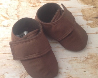 Brown Baby Shoes | Gender Neutral Shoes | Baby Girl Shoes | Baby Boy Shoes | Newborn Shoes | Infant Shoes | Toddler Shoes