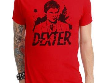 Dexter T-shirt #2 hand-painted-dexter handpainted T-shirt #2