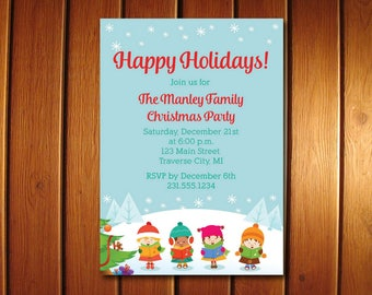 Christmas Caroling Invitation | Printable Caroling Party Invitations