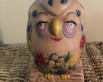 Fun & Funky Colorful Owl Figurine.