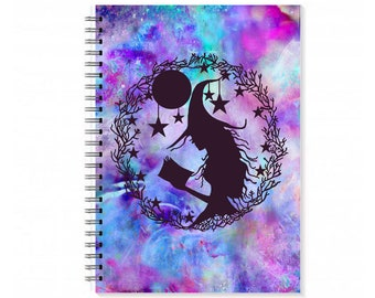 Book Of Shadows - Sketchbook - Spell Book - Recipe Book - Spiral Notebook - Witchy - a5 Notebook - Pagan Altar - Witchcraft - Pagan Gifts