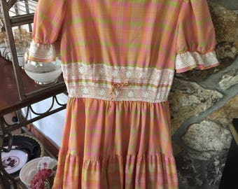 Vintage Malco Modes of California Square Dance Dress