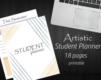 The Ultimate Artistic Modern Student Planner Printable PDF