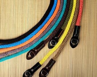 Woven Cotton Rope Camera Strap colorful Camera Strap dslr camera strap, nikon camera strap, canon camera strap, Vintage Camera Strap