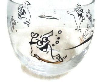 Vintage Charlie The Tuna Starkist Advertising Glass