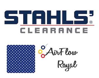 "15"" x 5 Yards - Stahls' AirFlow - Perforated HTV - Craft Roll - Iron-on Heat Transfer Vinyl - HTV - Royal Blue"
