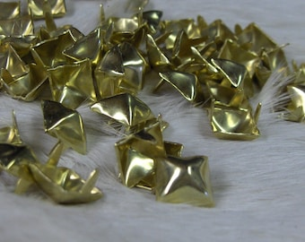 Pyramid Spots Brass  Plated 1/2  Nailhead Pack of 100