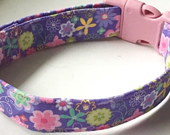 Purple and Pink Floral Summer Girl Dog and Cat Collar