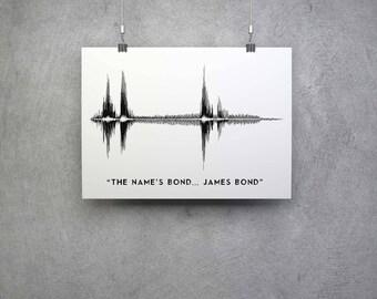 TV/Film Gift - The name's bond... James Bond Soundwave Artwork