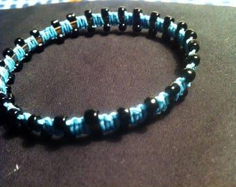 Woven bracelet - sky-