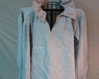Shirt, Men's Linen, SCA, LARP, Long Sleeve, Pennsic, Colonial Williamsburg, Revolutionary War, Renn Faire, Poet's