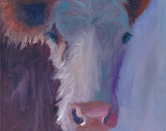 Daisy Snack,  11x 14, oil painting, original art, ready to hang,