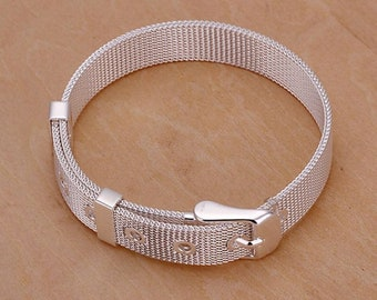 925 Sterling Silver Plated Bracelet, Top Quality, FREE SHIPPING
