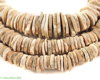 Heishi Ostrich Egg Shell Trade Beads Old Africa 110666