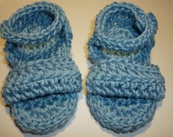 crochet baby boy sandals, boy summer booties, crochet boy shoes