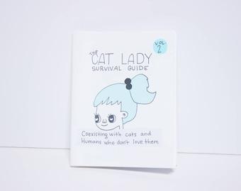 Cat Zine / Cat Lady Zine / Illustration / Art Zine / Comic / Funny Zine / Cat Illustrations / Indie Zine / Cat Lady Gift / Gift for Cat Lady