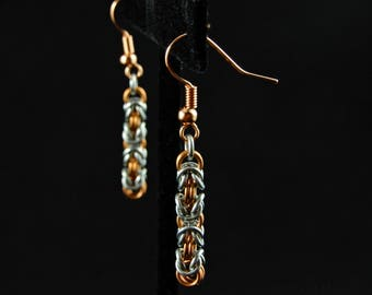 Delicate Byzantine Chainmaille Earrings