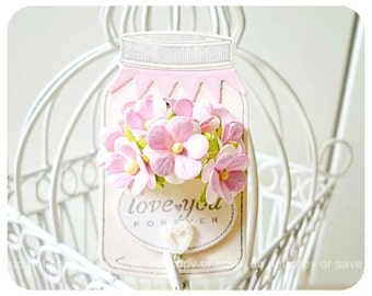 Bottled flower tags