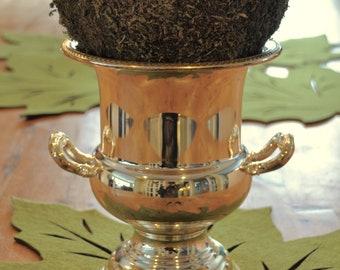 Beautiful silverplate Urn or Ice bucket - great decor piece, change seasonally.