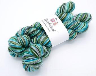 Thunderboom Targhee Watercolor Stripes, Self Striping Sock Yarn - In Stock