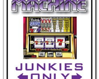 Slot Machine Junkie ~Sign~ Parking Vegas Gambler Gift