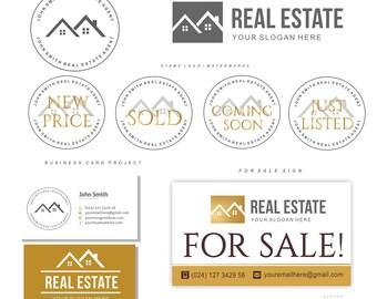 Real estate logo realtor logo house key logo gold logo real estate logo house agent logo design real estate business card realtor logo branding kit watermark logo gold logo boutique logo 81 colourmoves