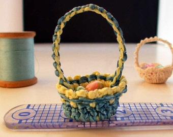 Tisket Tasket Blue and Yellow Basket