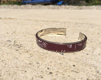 Prawn leather bangle