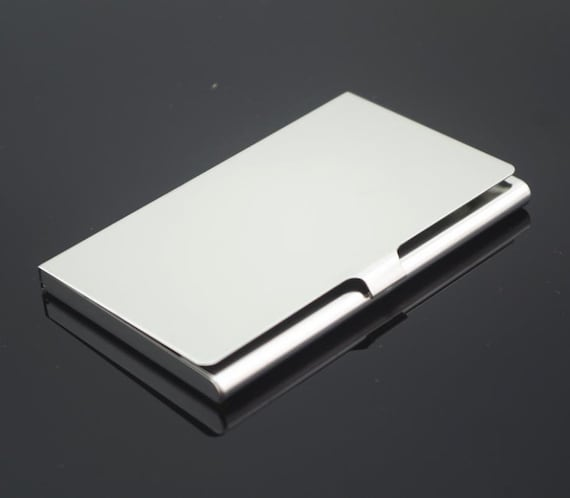 Stainless steel business card holder metal card stainless steel business card holder metal card case business card case blank card holder frame hold a standard sized business card reheart