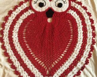 Crochet Pattern, PDF, Crochet Owl Rug - PDF Crochet Pattern, Owl Pattern, Crochet Owl Pattern, Crochet Mat Rug floor Pattern Instant Downlod