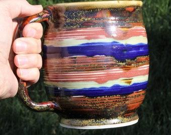 Mug, large mug, beer stein, big solid mug, large coffee mug, coffee mug, soup mug, tea mug.