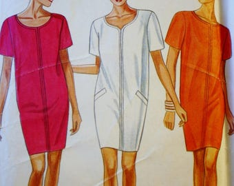 Pullover Dress Sewing Pattern, New Look 6671,  UNCUT, Size 8-18