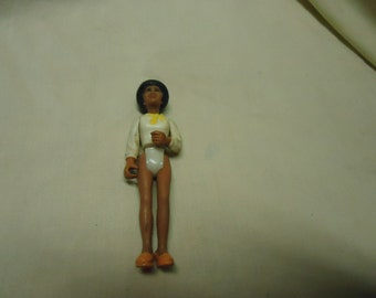 Vintage 1976 Fisher Price Toy Action Figure, woman, collectable, Hong Kong