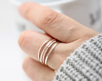 Staking Ring • Dainty Staking Ring • Layering Ring • Minimalist Ring • Silver Staking Ring • Gold Staking Ring • Textured Ring • Simple Ring