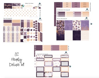 Glitz & Glamour Erin Condren Hourly Planner Sticker Kit