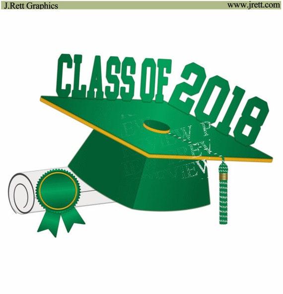 class of 2018 clip art more colors green gold yellow graduation rh etsystudio com announcement clip art templates announcement clip art templates