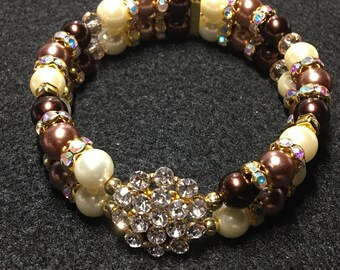 Double banded Rhinestone cluster