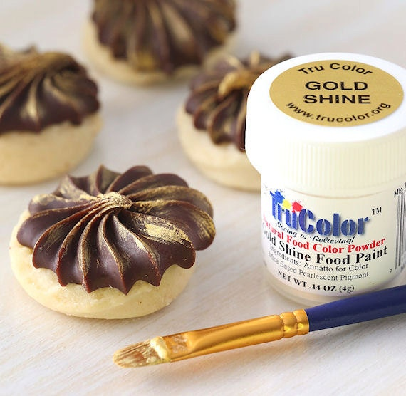 Gold Food Paint Powder, TruColor Gold Shine Food Paint, Edible Gold ...