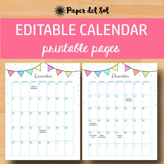 Calendar Cards Printables : Printable calendar calendars