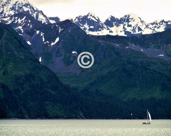 Sailing in Seward - 5x7 PHOTO PRINT - other sizes available