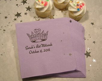 Bat Mitzvah napkins Personalized bat mitzvah napkins bat mitzvah Set of 50 birthday napkins