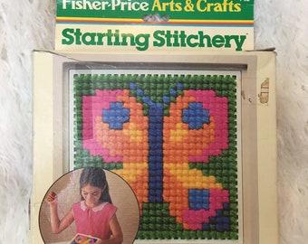 Vintage Kid's Butterfly Fisher Price Stitchery Kit