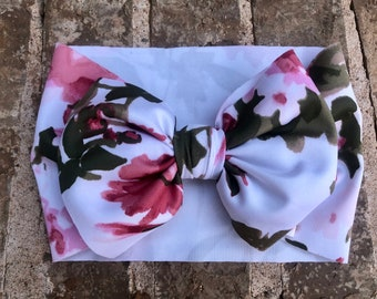 Mauve and olive Floral Headwrap