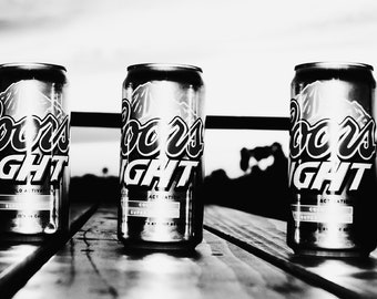 Black and White Coors Light
