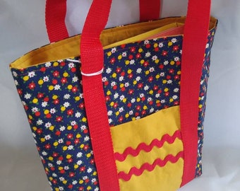 Kids busy bag Ble Floral