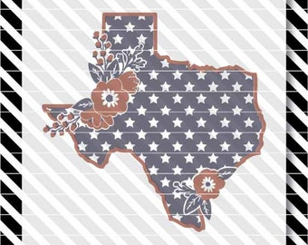 Texas svg - Patriotic Texas svg - Texas dxf - Patriotic Texas dxf - Stars svg - Texas Flowers svg - Texas Shirt svg - State vector - Texas